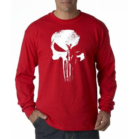687 - Unisex Long-Sleeve T-Shirt New Daredevil Punisher Skull Logo](Daredevil T Shirt)