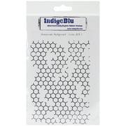"IndigoBlu Cling Mounted Stamp 7""X4.75""-Honeycomb Background"