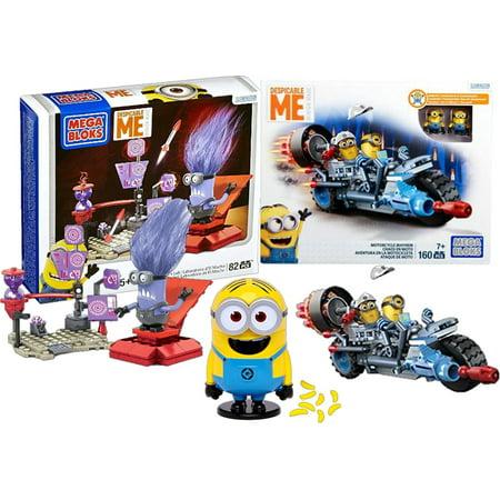 Despicable Me Mega Bloks Minion El Machos Lab Play Set Motorcycle