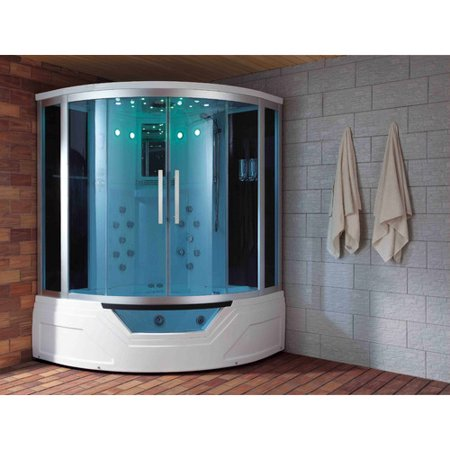 Eagle Bath 59 X 87 Round Sliding Steam Shower With Base Included