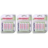 Tenergy Centura AA 2000mAh Low Self-Discharge (LSD) NiMH Rechargeable Batteries, 3 Cards 12-Pack