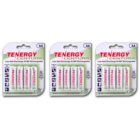 Discharge Nimh Battery - Tenergy Centura AA 2000mAh Low Self-Discharge (LSD) NiMH Rechargeable Batteries, 3 Cards 12-Pack