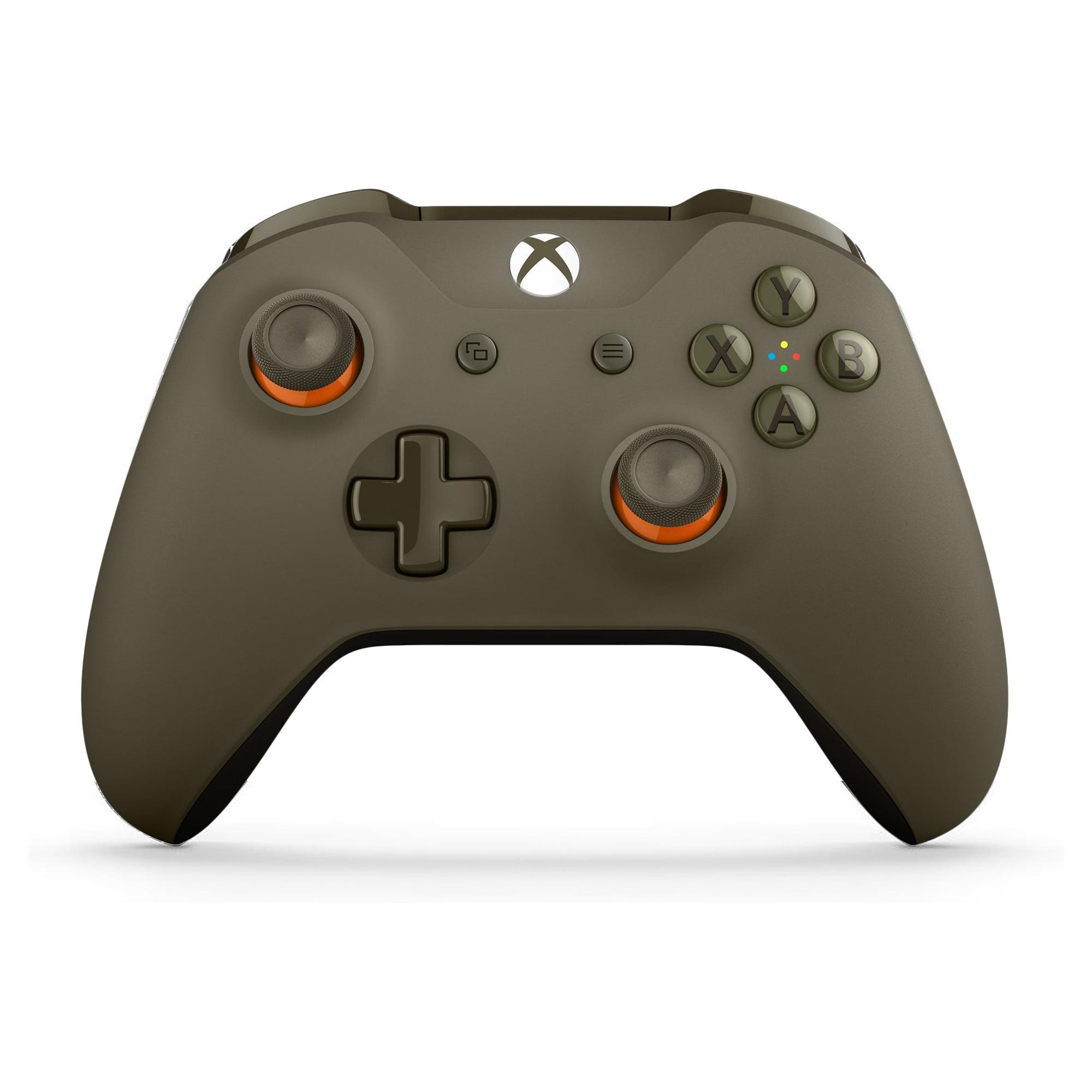 Microsoft Xbox One Bluetooth Wireless Controller, Green/Orange (Walmart Exclusive), WL3-00035