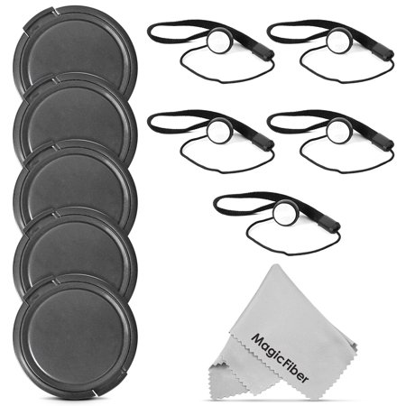 (5 Pack) Altura Photo 72mm Snap-On Front Lens Cap w/ Cap Keeper Holder for Canon Nikon Sony Olympus and other DSLR Cameras