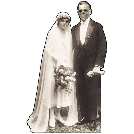 Haunted Hotel Bride and Groom Standee Halloween Decoration - Bride And Groom Halloween Props