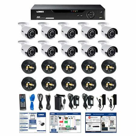 - Lorex LHV516410B 16CH 4K DVR 4TB 10 UHD 4K Bullet Camera Security System 16 Channel Surveillance
