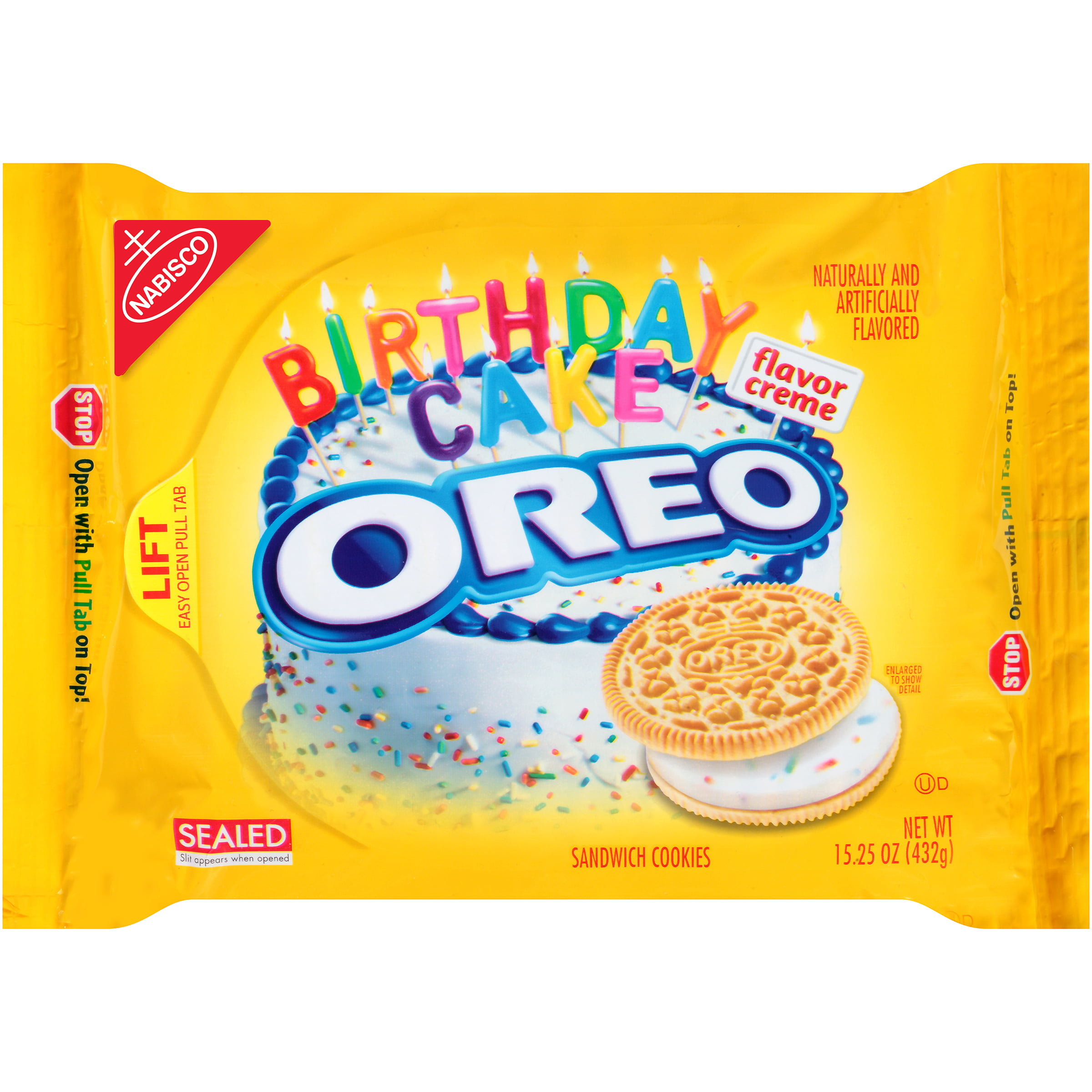 3 Pack) Nabisco Oreo Birthday Cake Flavor Creme Sandwich Cookies