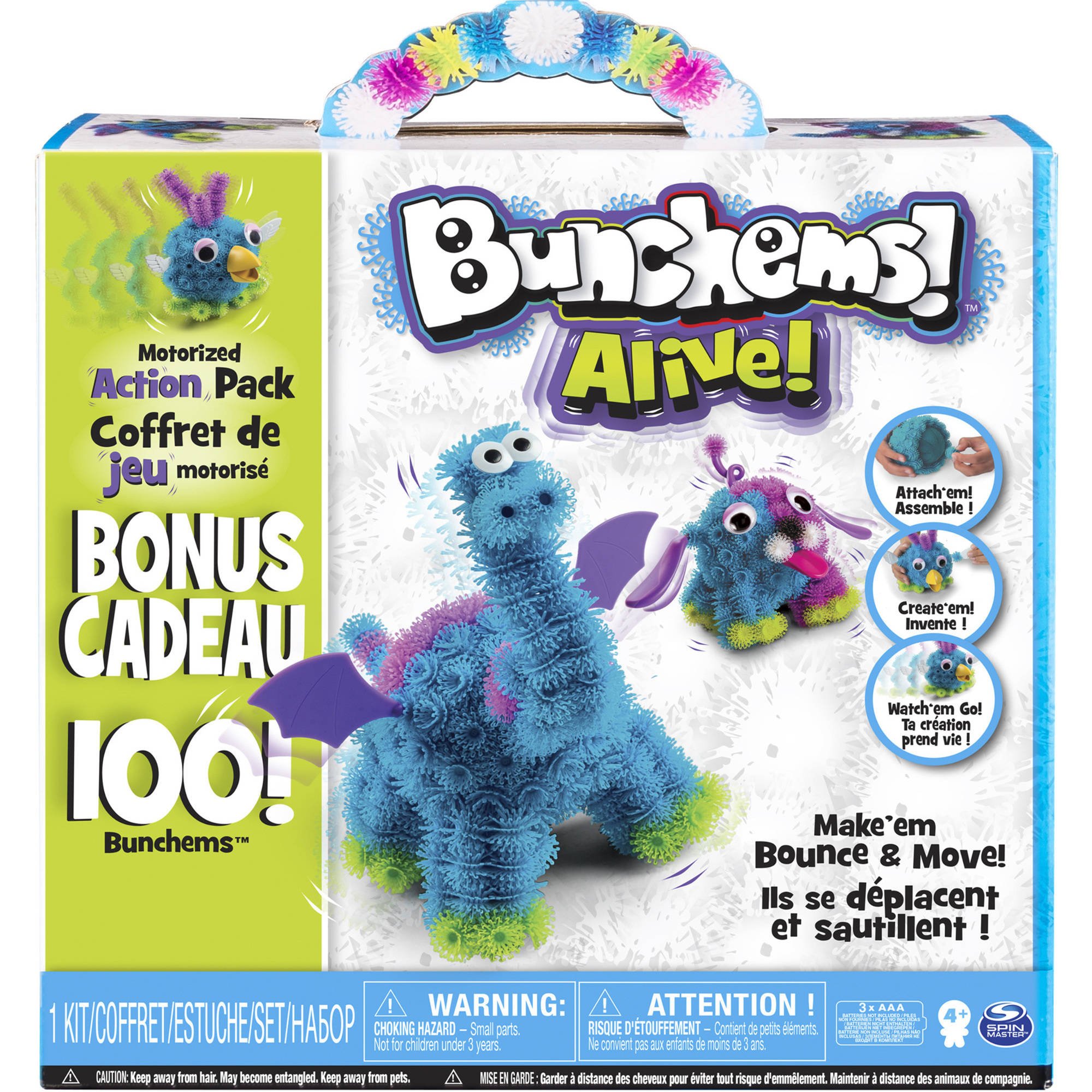 Bunchems Alive Motorized Action Pack with 100 Bonus Bunchems