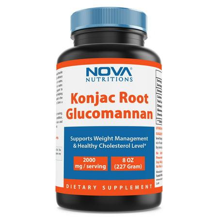 Nova Nutritions Konjac Root Glucomannan 100% Pure Powder 8 oz