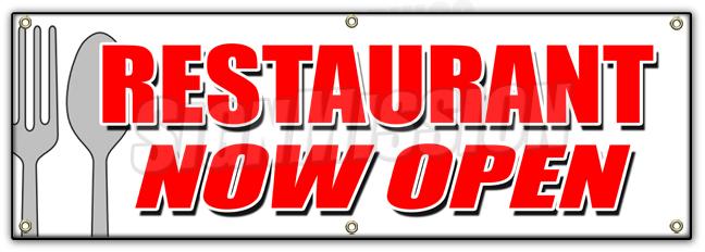 48x120 Open 24 Hours Banner Sign Service Store Restaurant bar