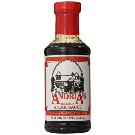 Andria's Brush On Steak Sauce, 15 Ounce Bottle (Pack of