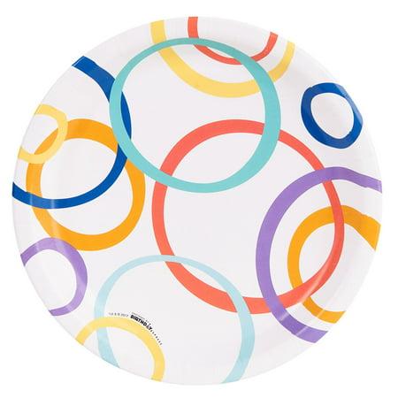 Playful Pom Pom Circle Dinner Plate (8)