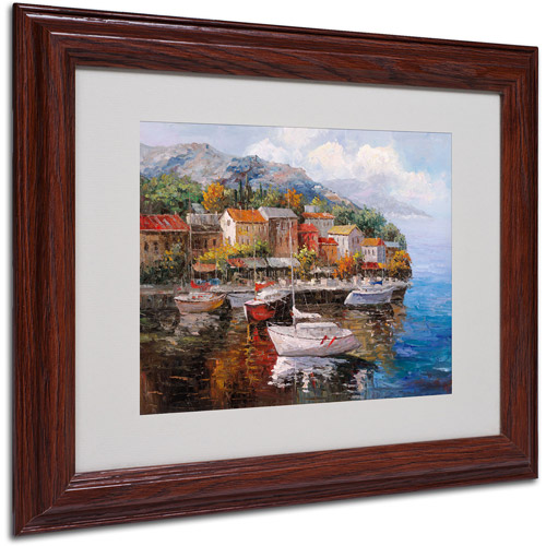 Trademark Fine Art 'At Sea' Matted Framed Art by Joval