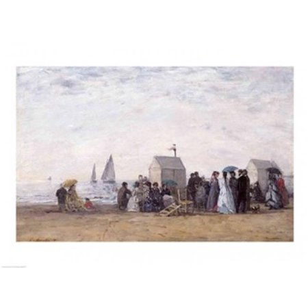 Posterazzi BALXIR34122LARGE The Beach at Trouville 1867 Poster Print by Eugene Louis Boudin - 36 x 24 in. - Large - image 1 de 1