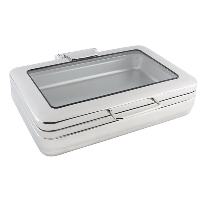 Bon Chef 20307 2 gal Rectangular Full Size Induction Chafing Dish with Glass & without Stand, 22.25 x 19 x... by Bon Chef