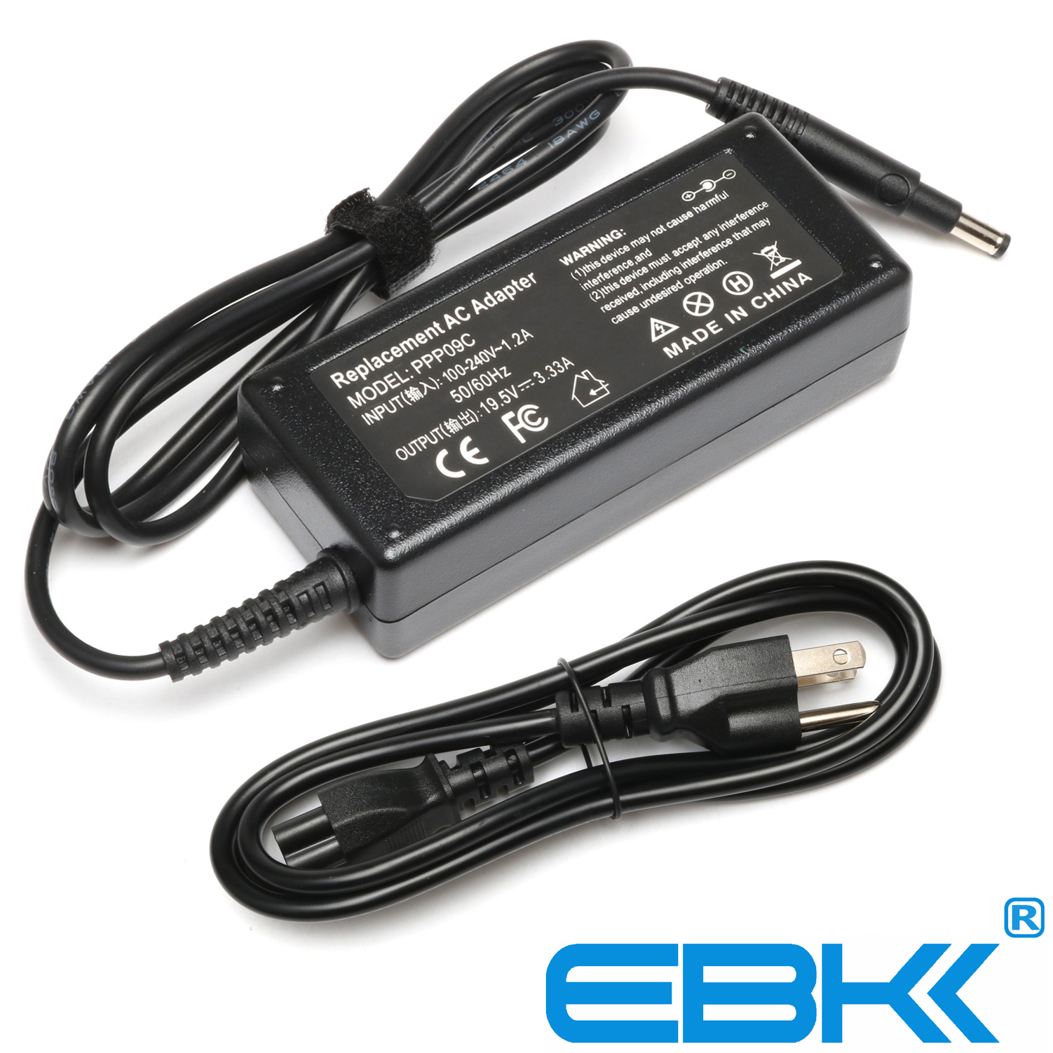 EBK 19.5V 3.33A 65W PPP09C AC Adapter Battery Charger for HP Pavilion Touchsmart 14-b109wm Sleekbook Fit 693715-001, 677770-001,677770-002,677770-003, 613149-003