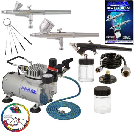 Master Airbrush Professional 3 Airbrush Kit with Compressor and Air (The Best Airbrush Kit)