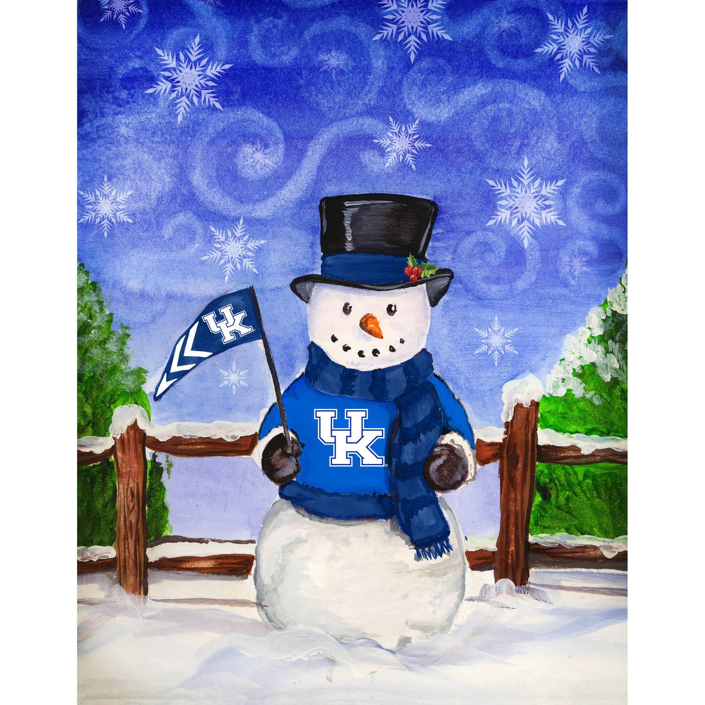 University of Kentucky Snowman Garden Flag