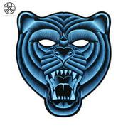 Luxtrada Sound Reactive LED Light Up Halloween Mask Dance Rave EDM Party Cosplay (Bear)
