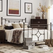 Signal Hills Rhodes Quatrefoils Iron Metal Bed with Footboard by