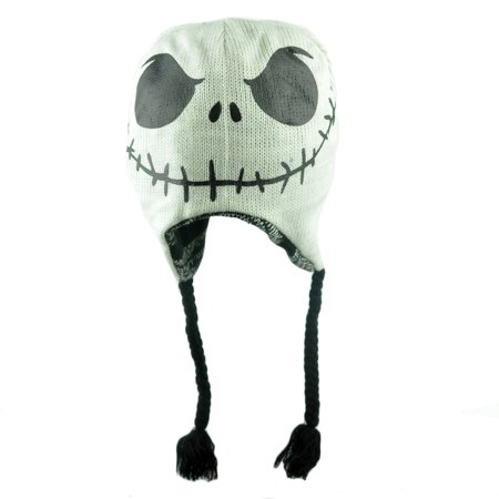 Jack Skellington Hat Knitting Pattern : Nightmare Before Christmas Jack Skellington Reversible Beanie Peruvian Knit H...