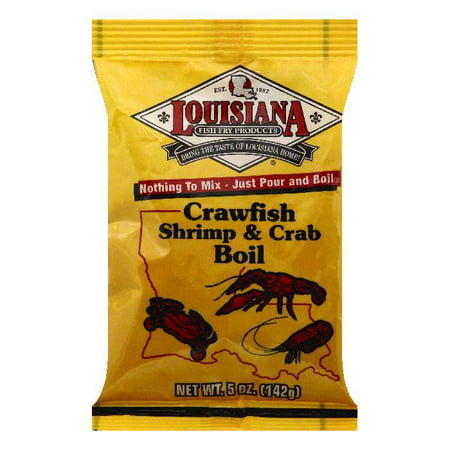 Louisiana Crawfish Shrimp & Crab Boil, 5 OZ (Pack of