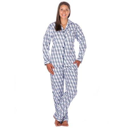 Noble Mount - Noble Mount Womens Premium 100% Cotton Flannel Pajama  Sleepwear Set - Walmart.com 95c2d9a02