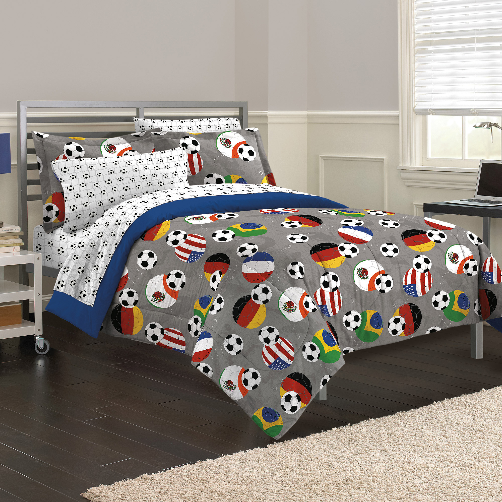 bedding comforter mainstays com a walmart in coordinating bed bag sports ip set cabin