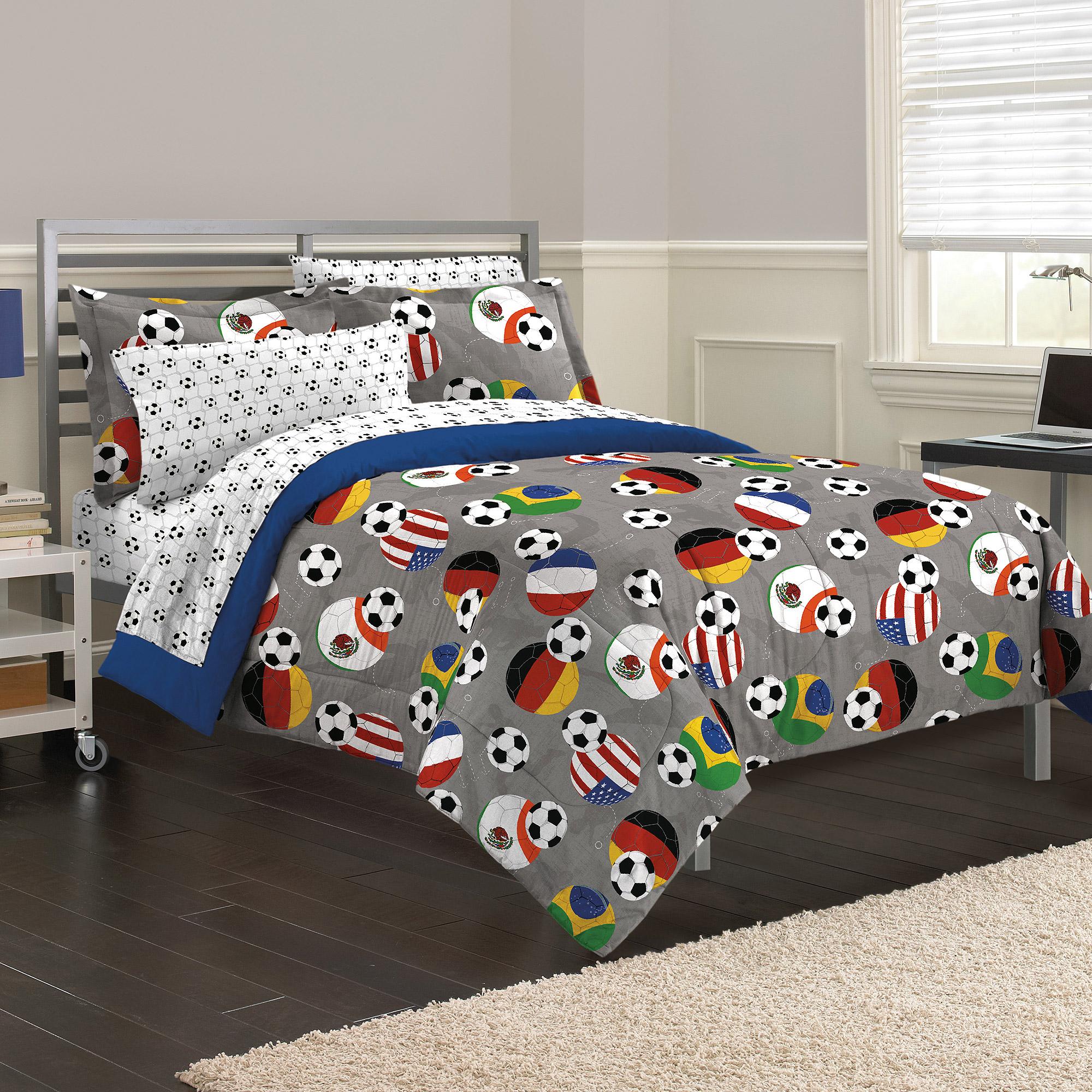My Room Soccer Fever Mini Bed In A Bag Bedding Set