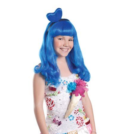 Child Candy Girl Blue Wig Halloween Accessory
