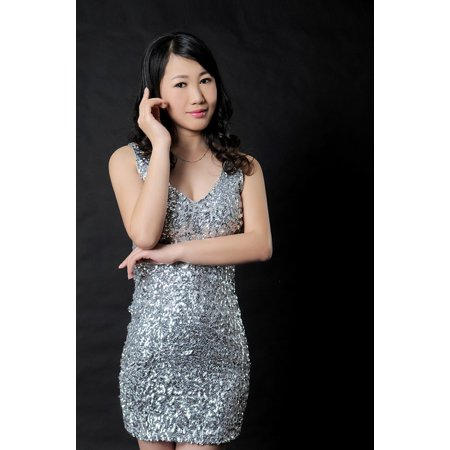 Acrylic Face Mounted Prints Health Evening Dress Asia Character Female Beauty Print 14 x 11. Worry Free Wall Installation - Shadow Mount is Included.](Female Movie Characters To Dress Up As)