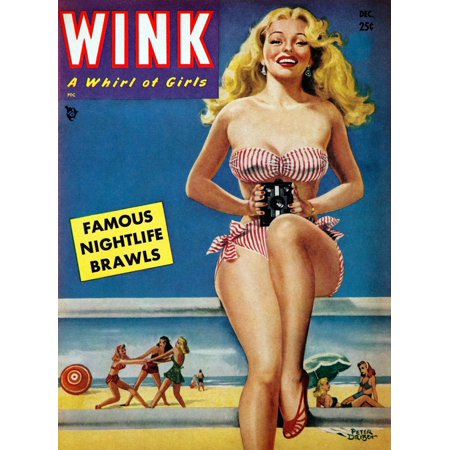 One of the best girlie magazines of the early 1950s The cover artwork of this December 1950 issue of Wink is by one of the most prolific pin-up artists ever to hold a brush Peter Driben Driben was (Best Life Magazine Covers)