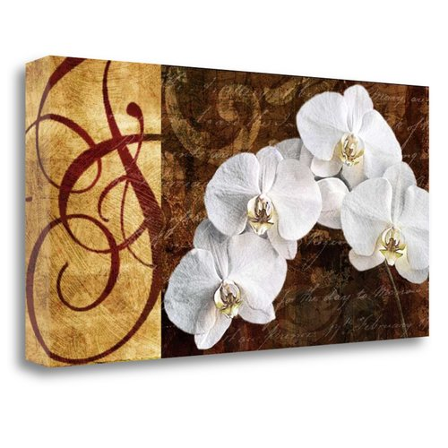 Tangletown Fine Art 'Moonlit Orchids' by Keith Mallett Graphic Art on Wrapped Canvas