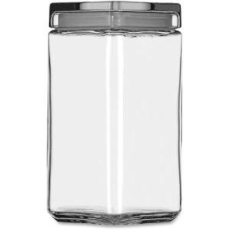 Office Settings Clear Glass Jar - 2 Quart Jar, Lid - Glass - Jar - 1 / Carton (gj02q)