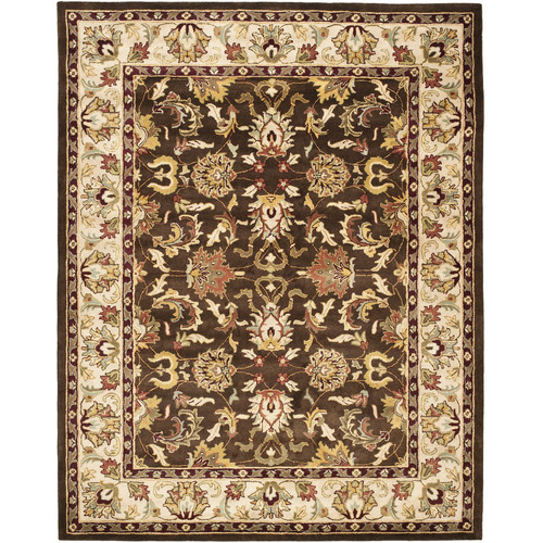 Charlton Home Cranmore Hand-Tufted Wool Brown/Beige Area Rug