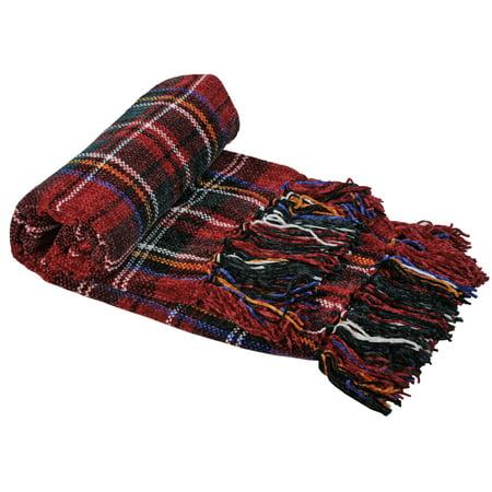 BOON Multi Color Crystal Chenille Throw Blanket