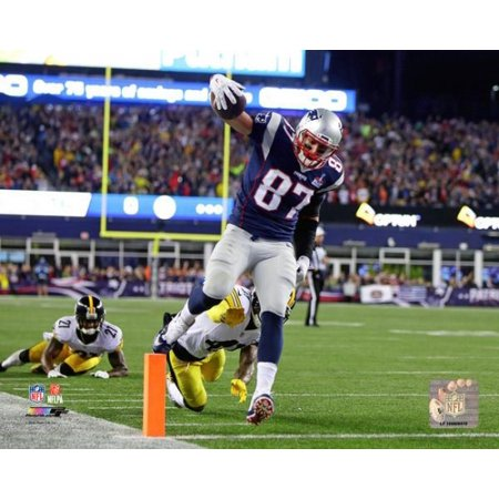 Rob Gronkowski 2015 Action Photo Print
