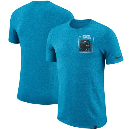 brand new 86da8 601a2 Carolina Panthers Nike Fan Gear Marled Stadium T-Shirt - Heathered Blue