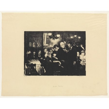 """Artists Evening Poster Print by George Bellows (American Columbus Ohio 1882  """"1925 New York) (18 x (Part Time Evening Jobs In Columbus Ohio)"""