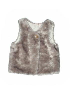 Pre-Owned CATHERINE Catherine Malandrino Girl's Size 5T Faux Fur Vest