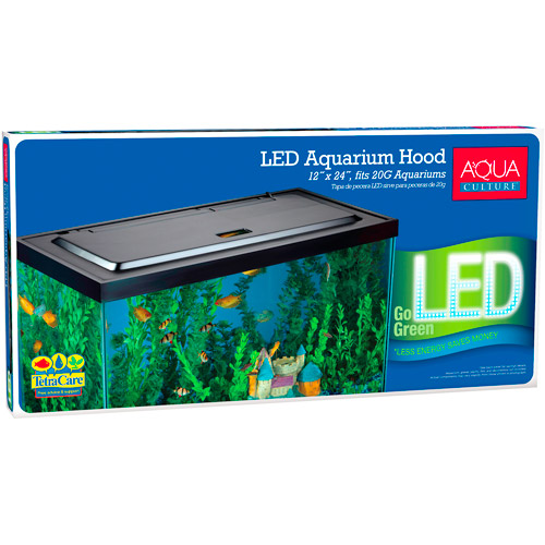 Aqua Culture LED Aquarium Hood for 20/55 Gallon Aquariums