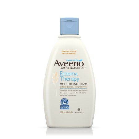 Aveeno Eczema Therapy Moisturizing Cream Relieves Irritated Skin  12 Oz