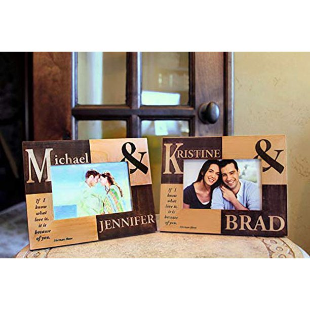 Personalized Wedding Picture Frames With Engraved Names And Quote Also Anniversary Photo Frames For Couples Walmart Com Walmart Com