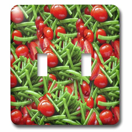 3dRose Green Bean Tomato Salad Collage - Double Toggle Switch (lsp_6240_2)](Halloween Green Bean Salad)