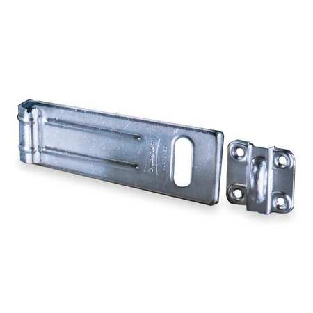 MASTER LOCK 704 Latching Hasp, Fixed, Natural, 4-1 2 In. L by Master Lock