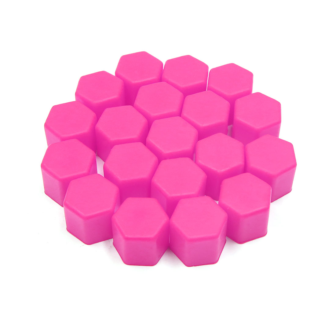 20pcs 17mm Rubber Car Wheel Tire Tyre Nut Screw Cover Caps Hub Protector Pink