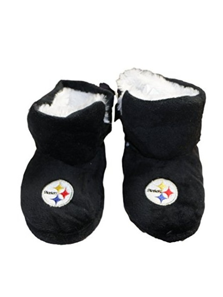 Jewels Fashion NFL Pittsburgh Steelers Baby Slippers (Small, Boot Slipper) # SP-1034 S