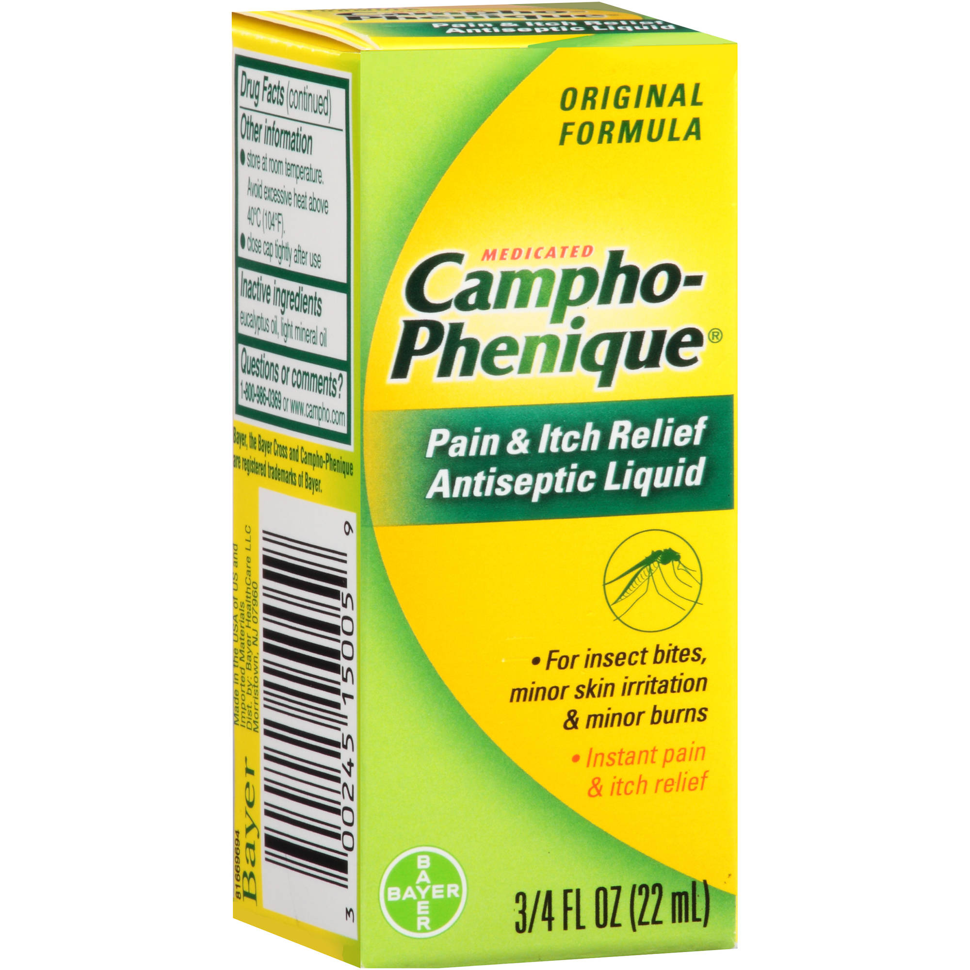 Campho-Phenique Medicated Pain & Itch Relief Antiseptic Liquid, 0.75 fl oz