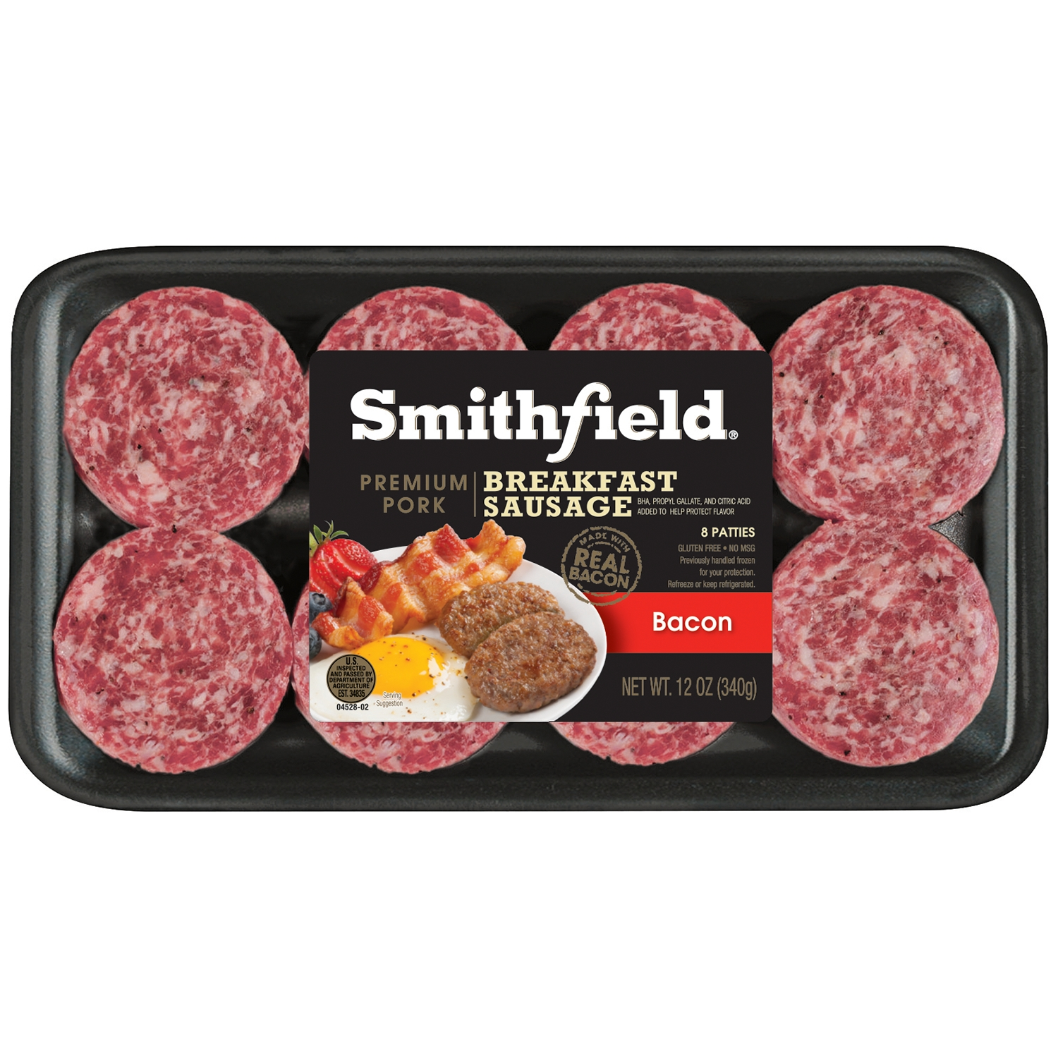 Smithfield® Bacon Premium Pork Breakfast Sausage Patties 12 oz. Tray