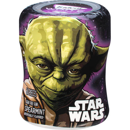 Trident White, Sugar Free Star Wars Yoda Spearmint Gum, 60 Pc, 2.94 oz
